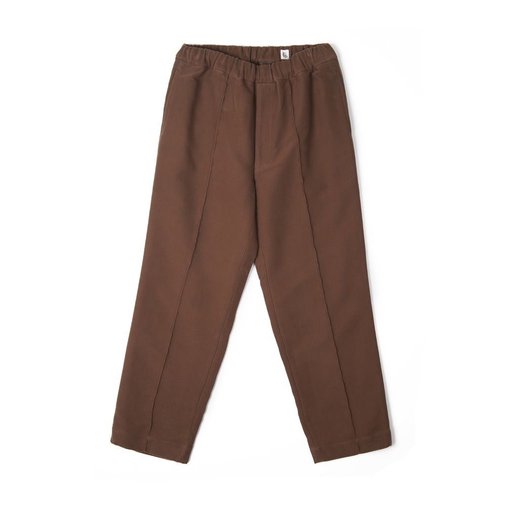 "KAPTAIN SUNSHINE Crease Tucked Easy Pants ""Mocha Brown"""