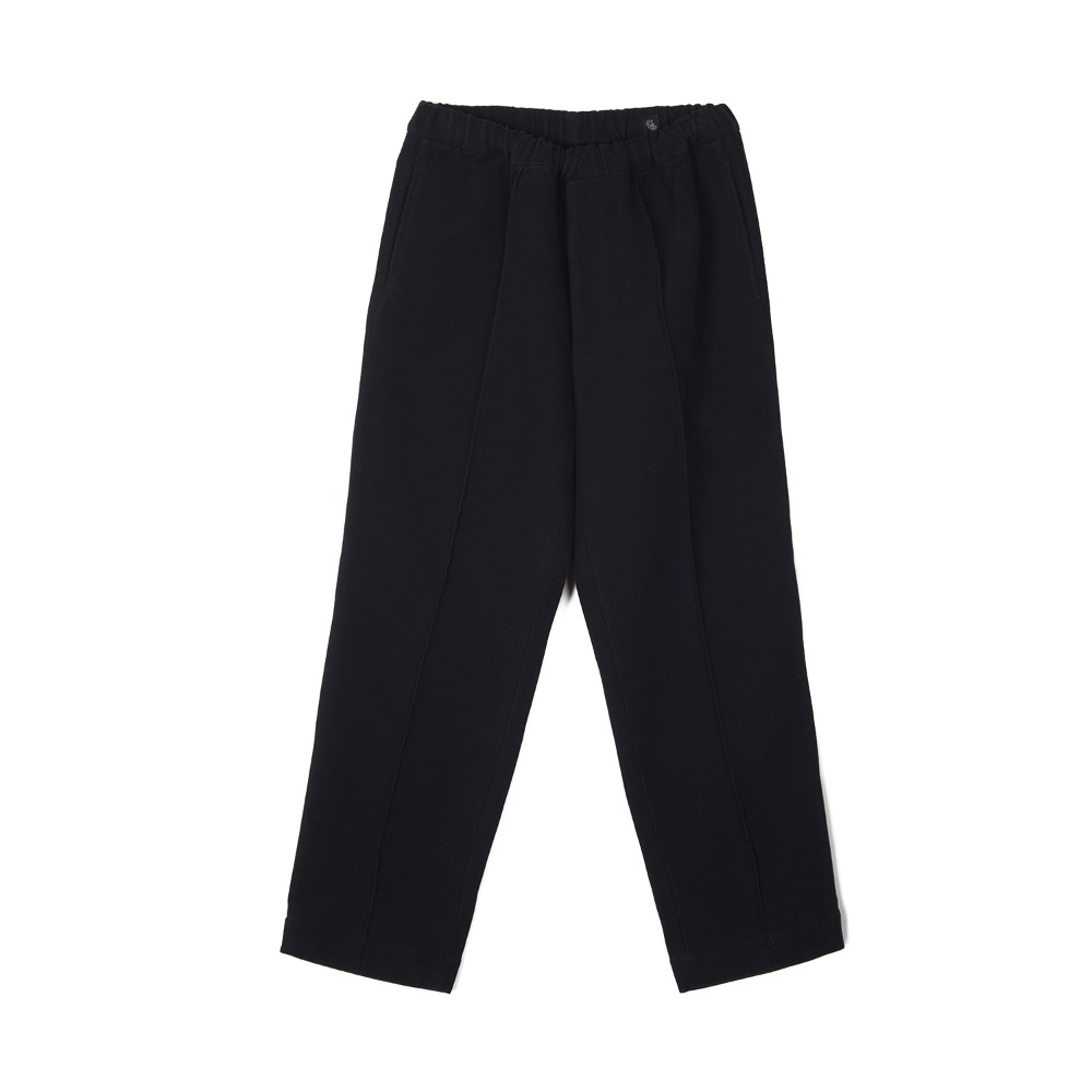 "KAPTAIN SUNSHINE Crease Tucked Easy Pants ""Dark Navy"""