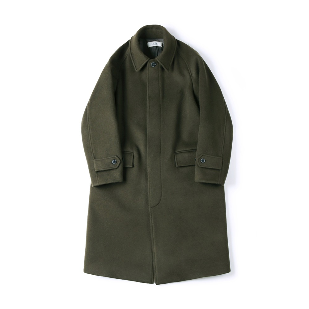 "SHIRTER Balmacaan Long Coat ""Olive"""