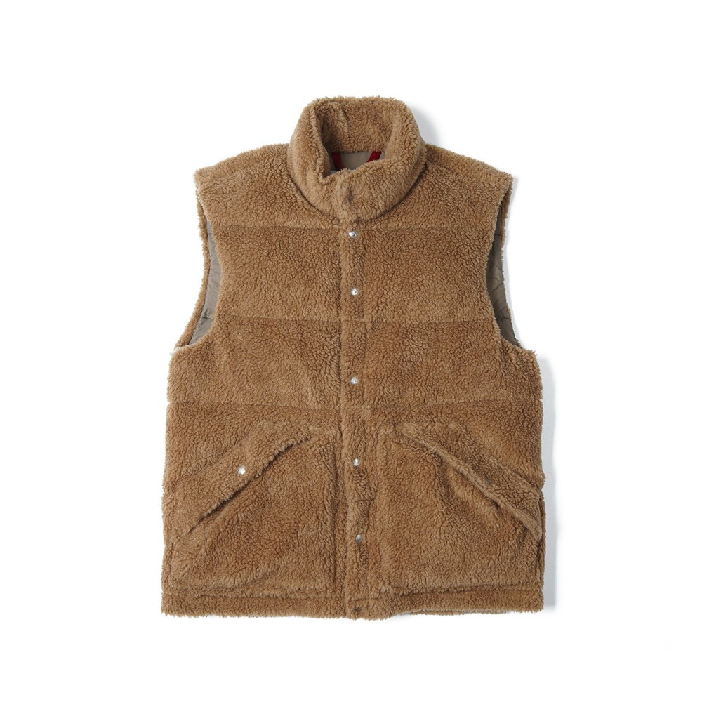 "HOLUBAR Deep Powder Fleece Vest ""Beige"""