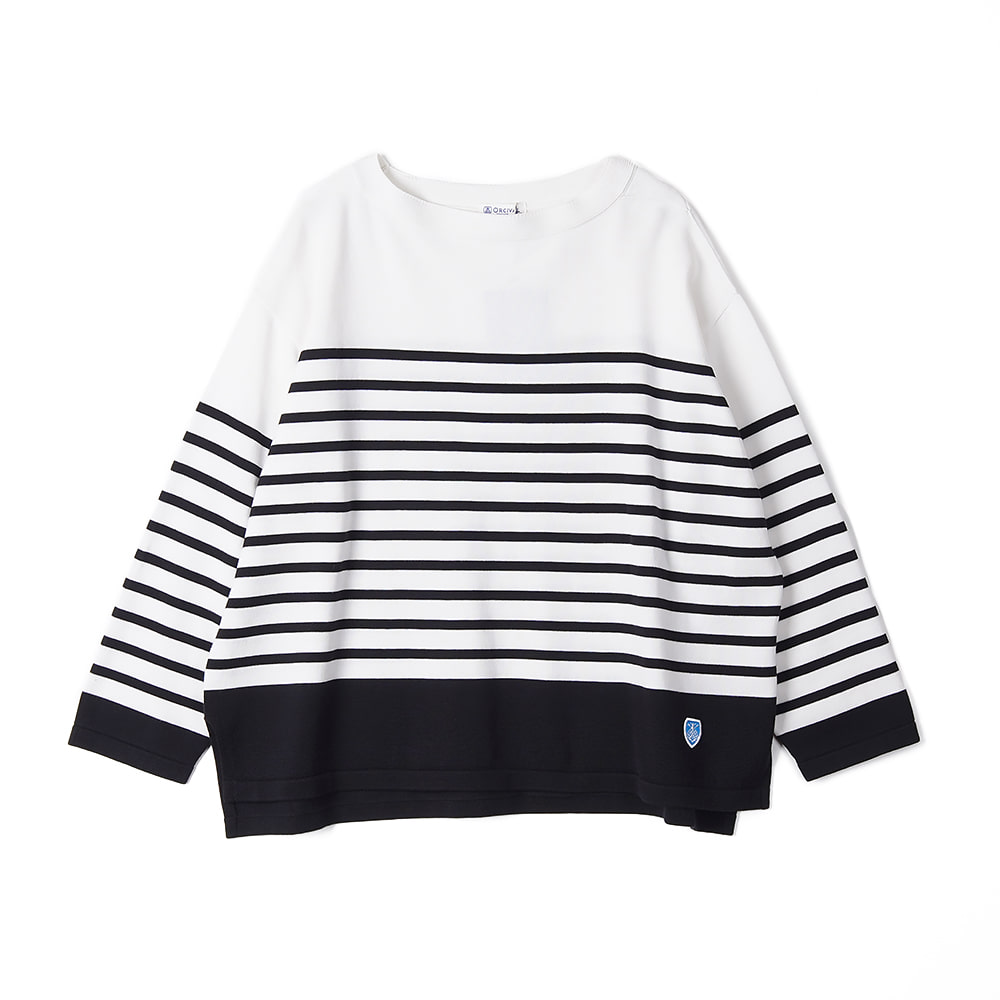 "ORCIVAL Woman Cotton Knit ""White x Black"""