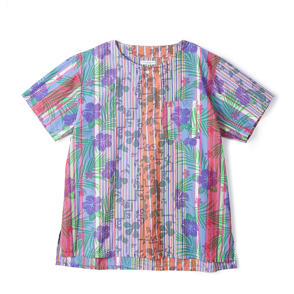 "ENGINEERED GARMENTS Floral Printed on Strip MED Shirt ""Multi Color"""