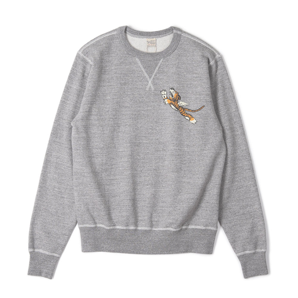 "BUZZ RICKSON'S Set-In Crew Sweat Flying Tigers ""H. Grey"""