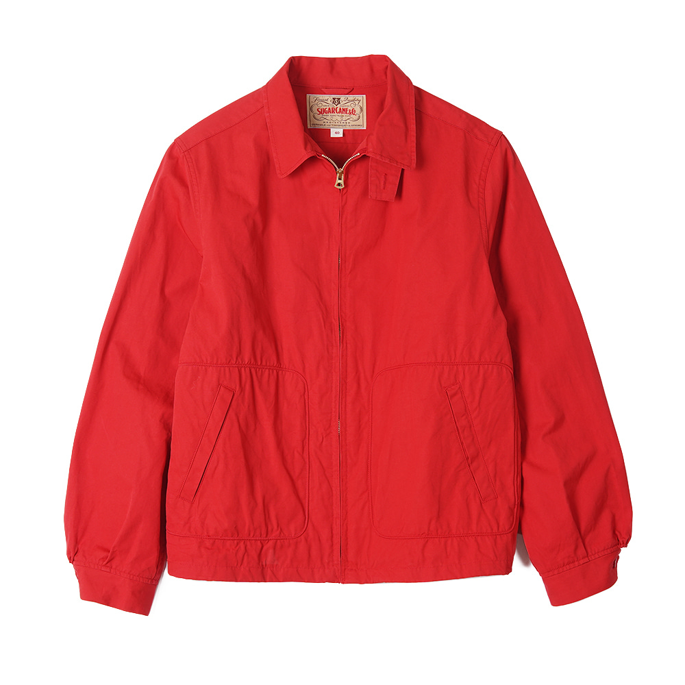 "SUGAR CANE Cotton Sport Jacket ""Red"""