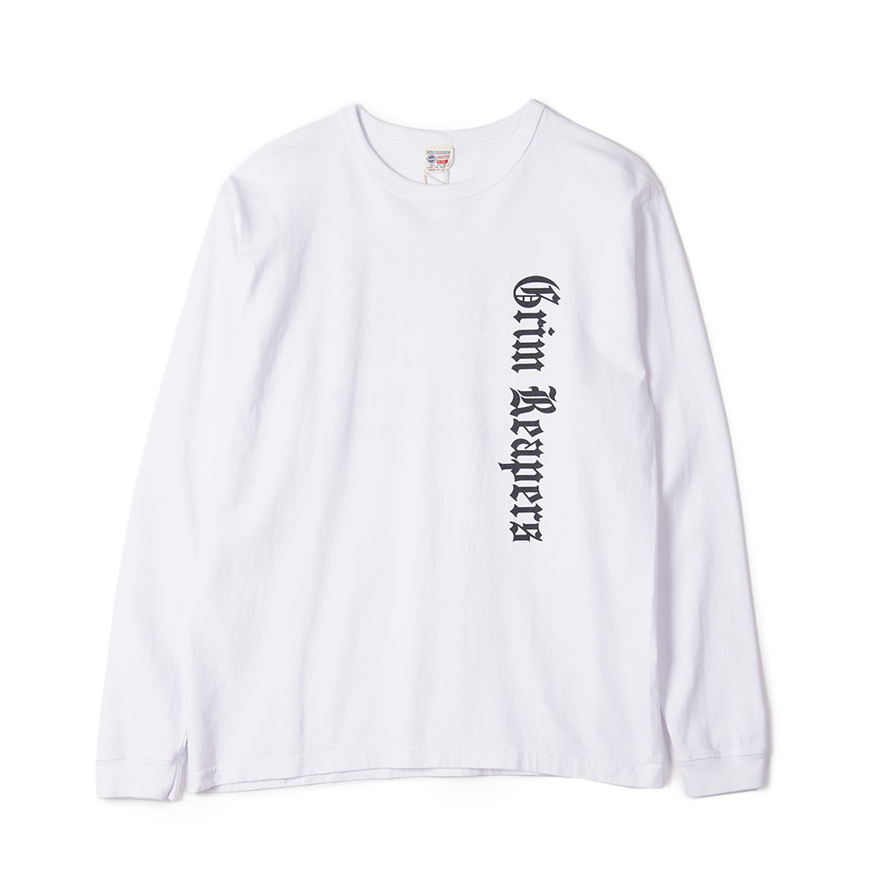 "BUZZ RICKSON'S L/S T-Shirt 13TH BOMB.SQ.""Grim Reapers"" ""White"""