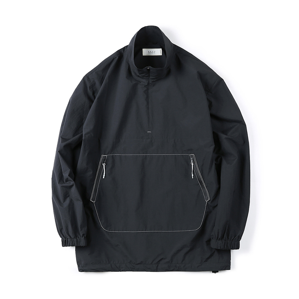 "SHIRTER Zip-Up Anorak Shirt ""Black"""