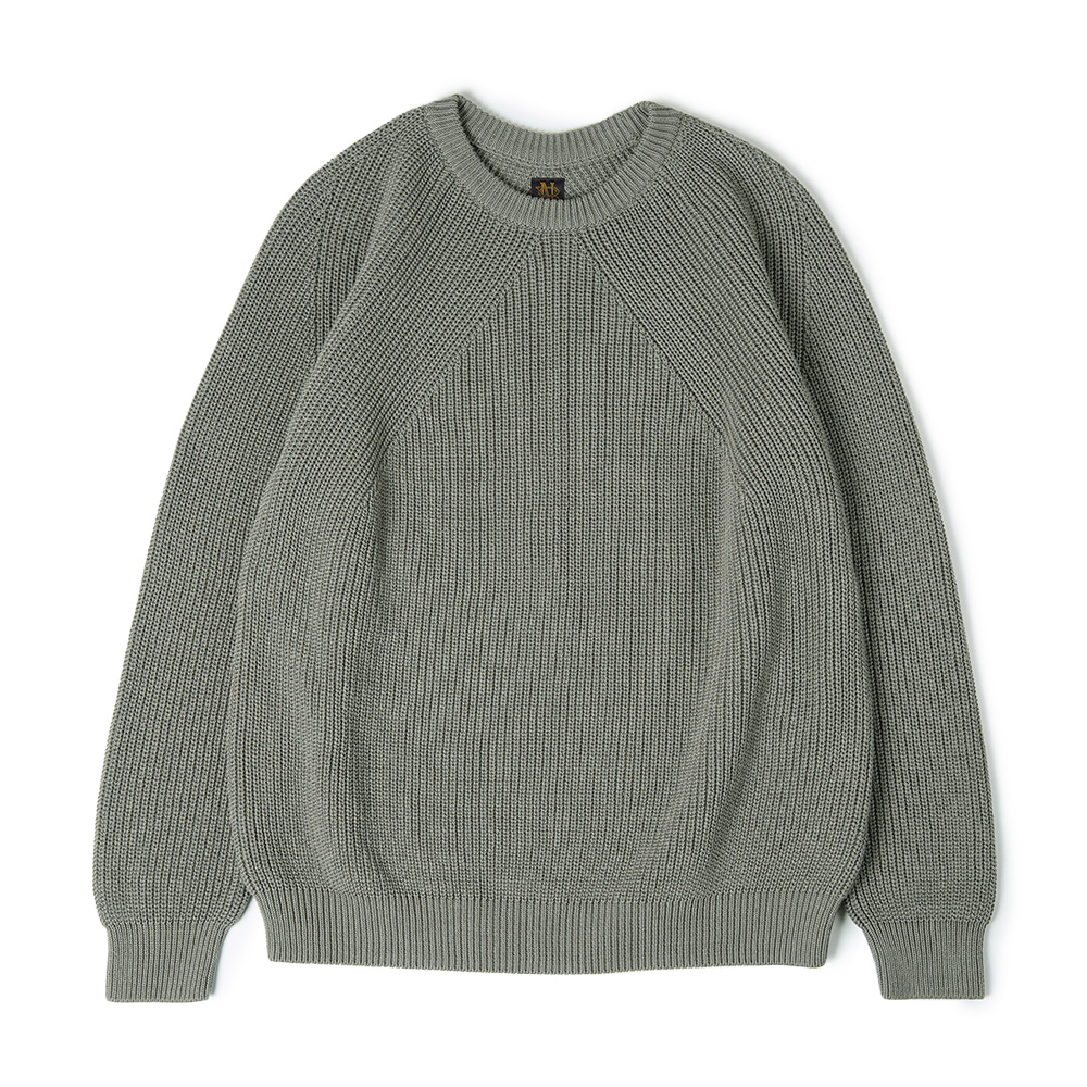 "BATONER Signature Crew Neck Knit ""Light Green"""