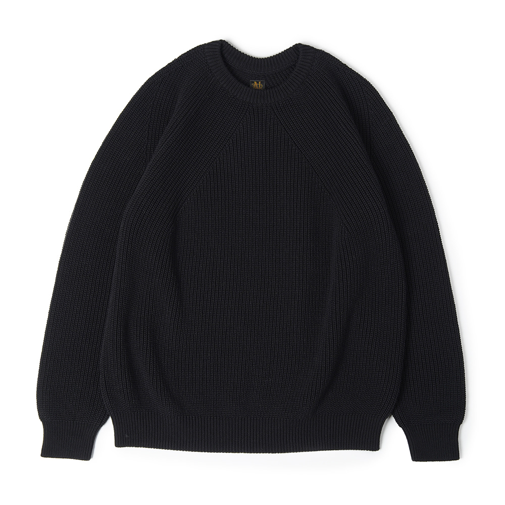 "BATONER Signature Crew Neck Knit ""Black"""