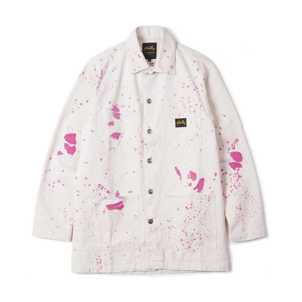 "STAN RAY Shop Jacket ""Natural W/Purple"""
