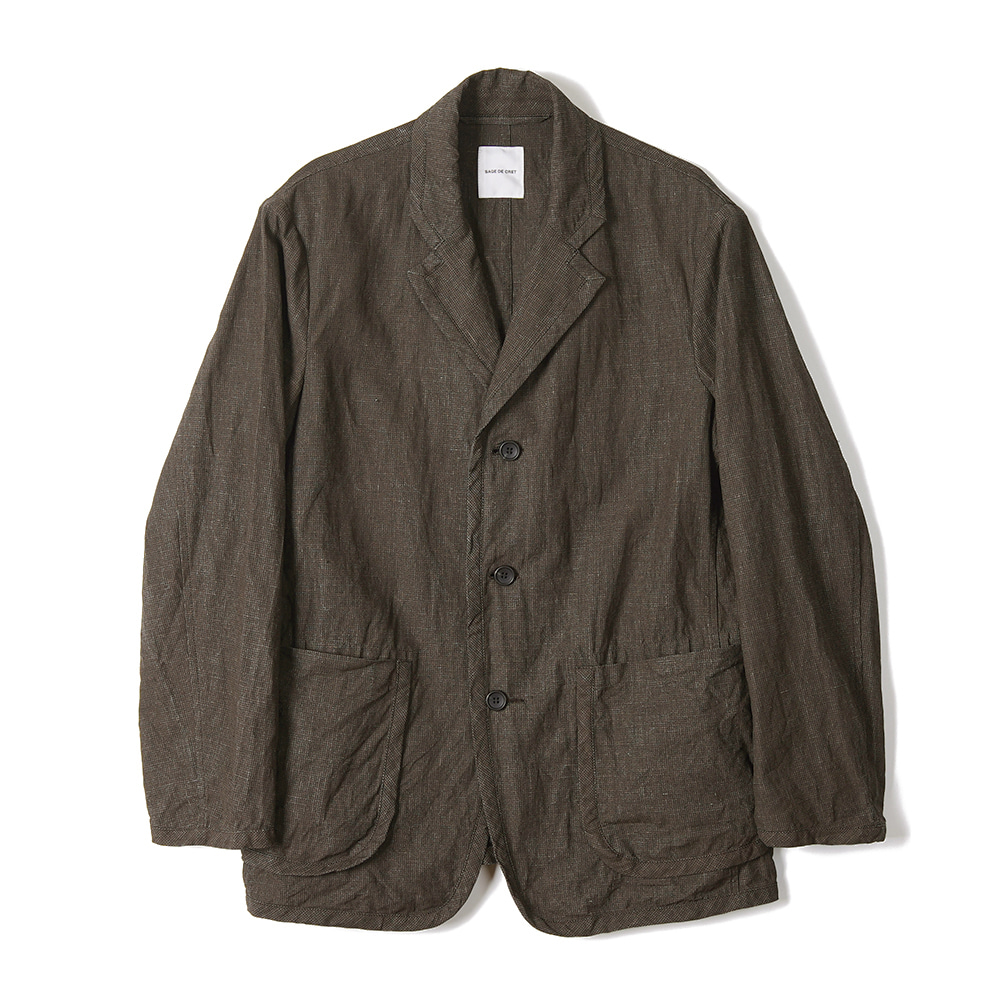 "Sage De Cret 3B Piping Jacket ""Brown"""