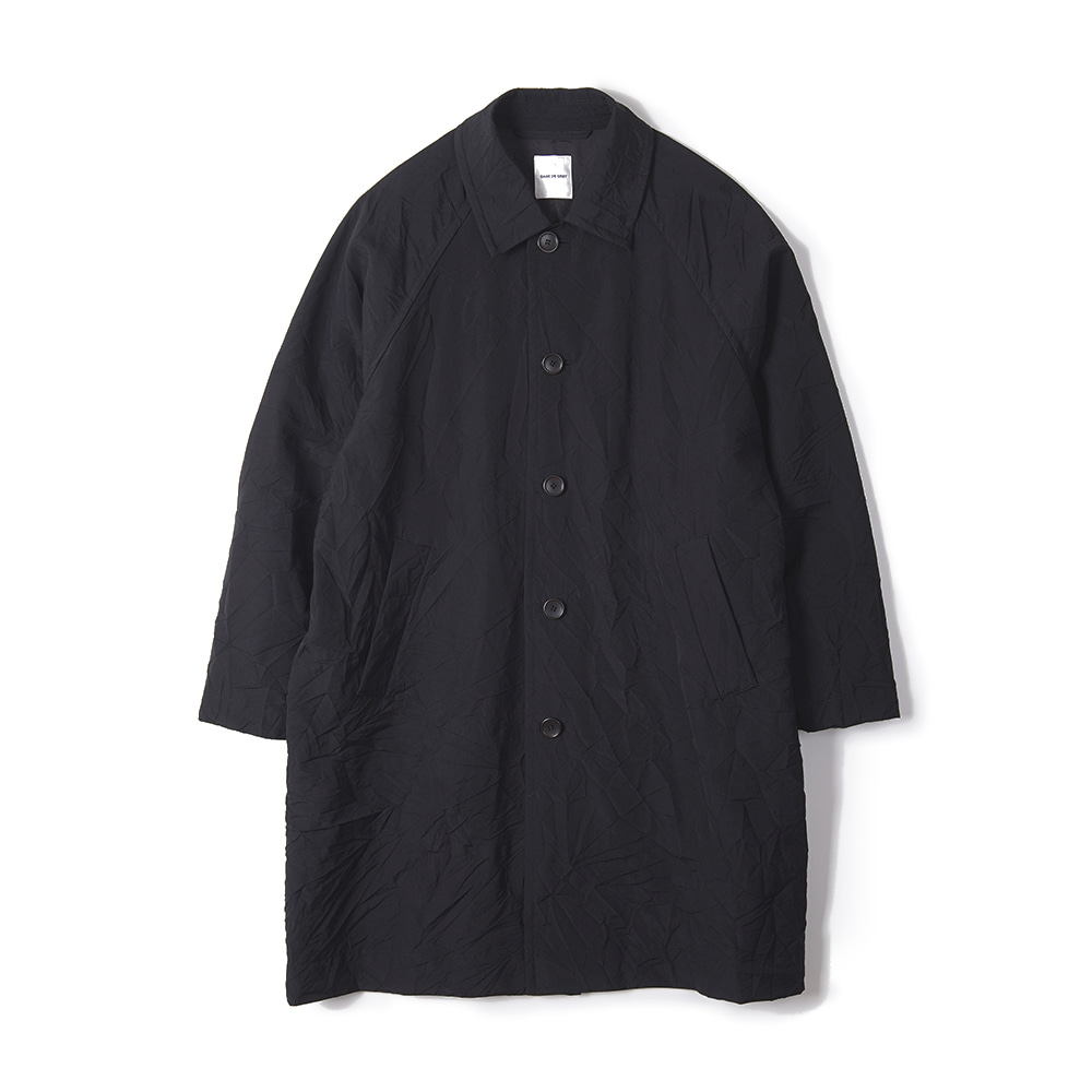 "Sage De Cret Convertible Collar Coat ""Black"""