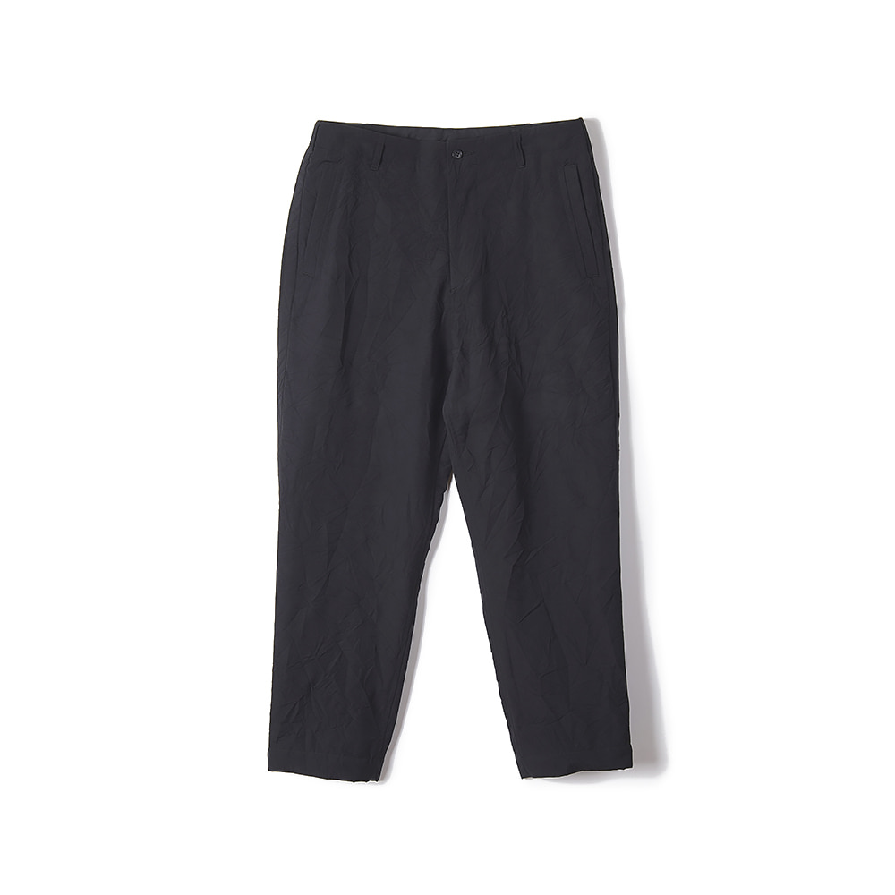"Sage De Cret 9/10 Length Pegtop Pants ""Black"""