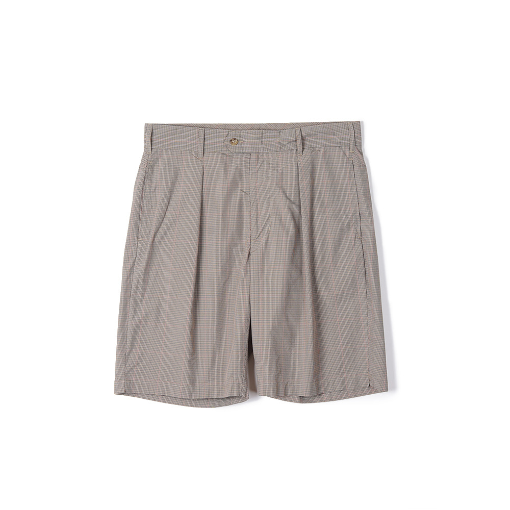 "ENGINEERED GARMENTS Sunset Short ""Khaki Nyco Mini Tattersall"""