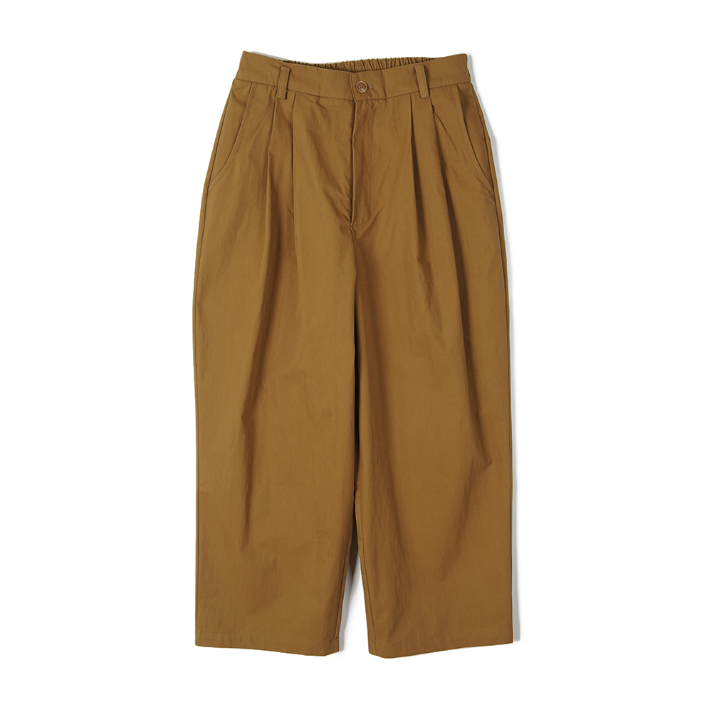"CONICHIWA BONJOUR Wide Chino Pants ""Light Brown"""