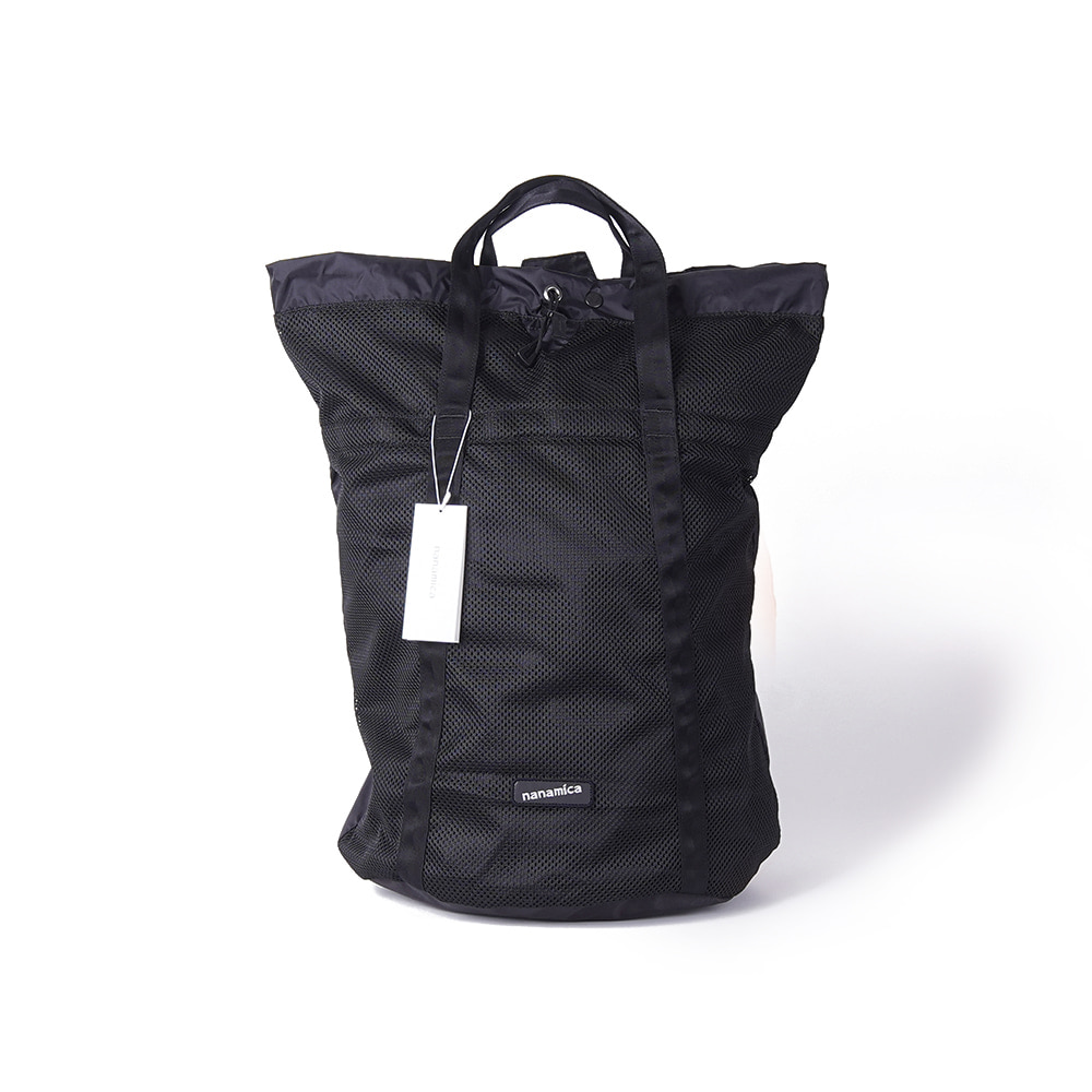 "NANAMICA Nanamican Packable Mesh Tote ""Black"""