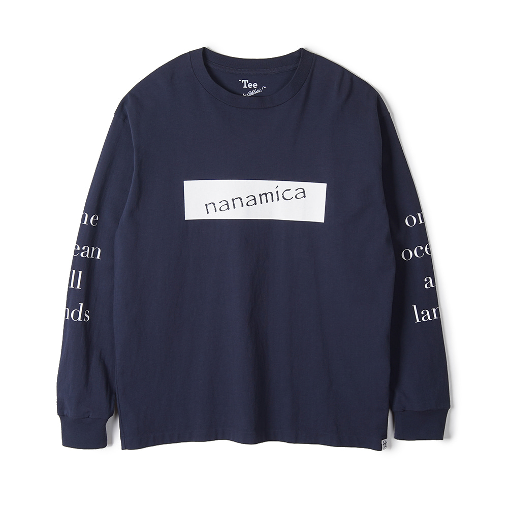"NANAMICA  L/S Graphic Tee ""Navy"""