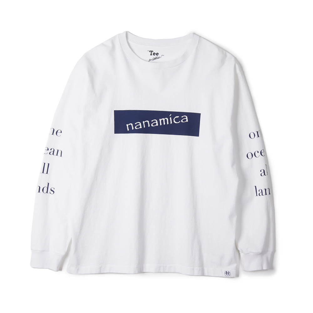 "NANAMICA L/S Graphic Tee ""White"""