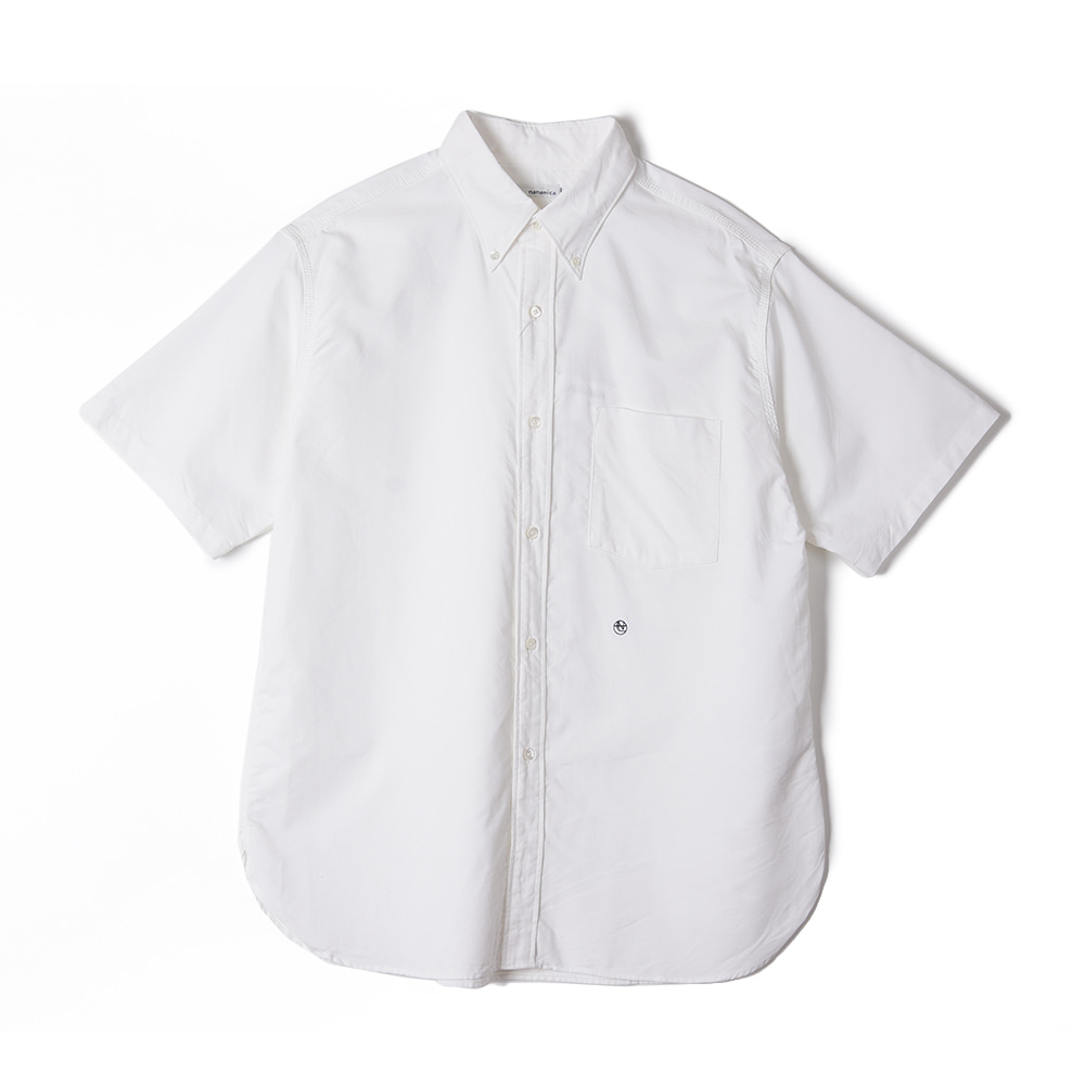 "NANAMICA Button Down Wind H/S Shirt ""White"""