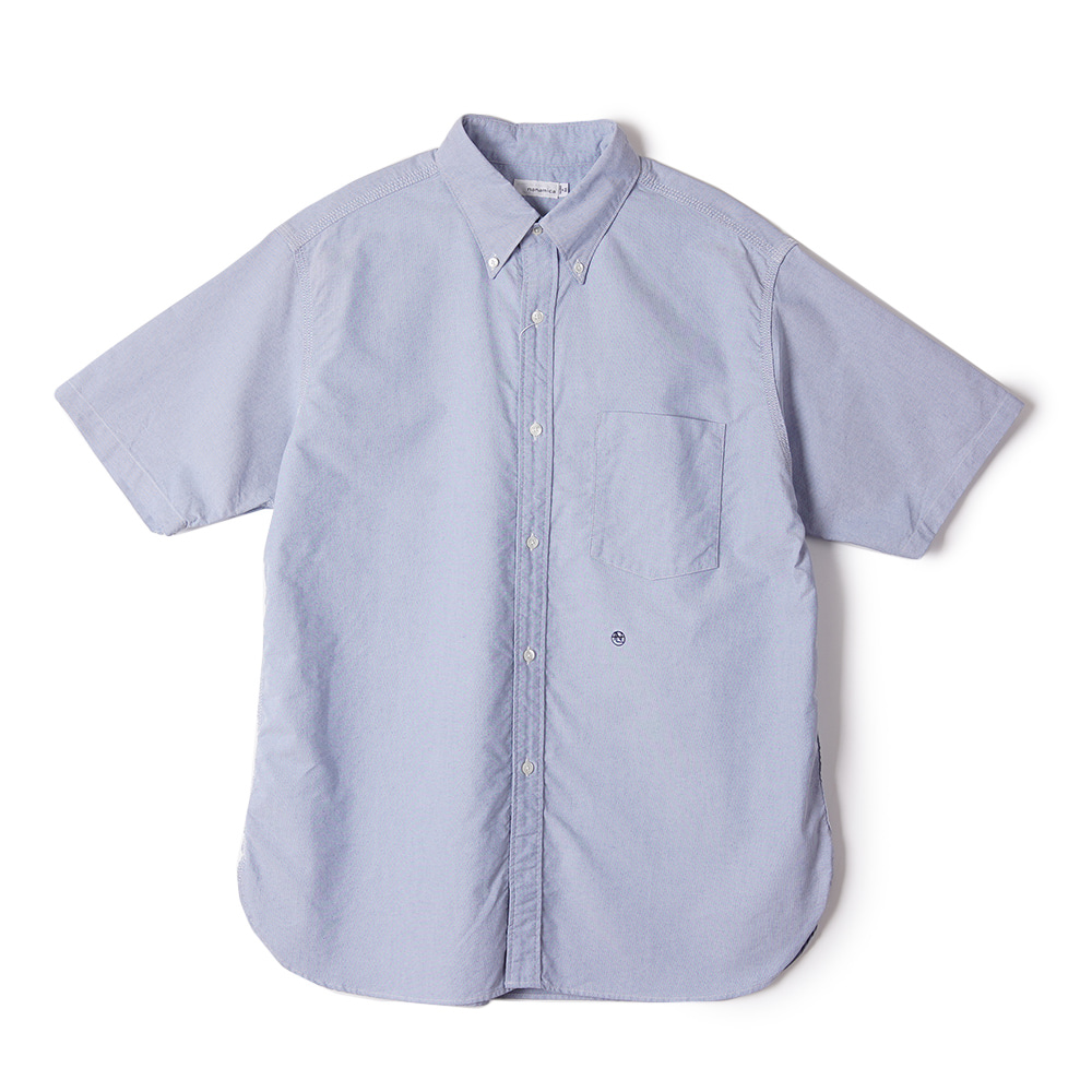 "NANAMICA Button Down Wind H/S Shirt ""Blue"""