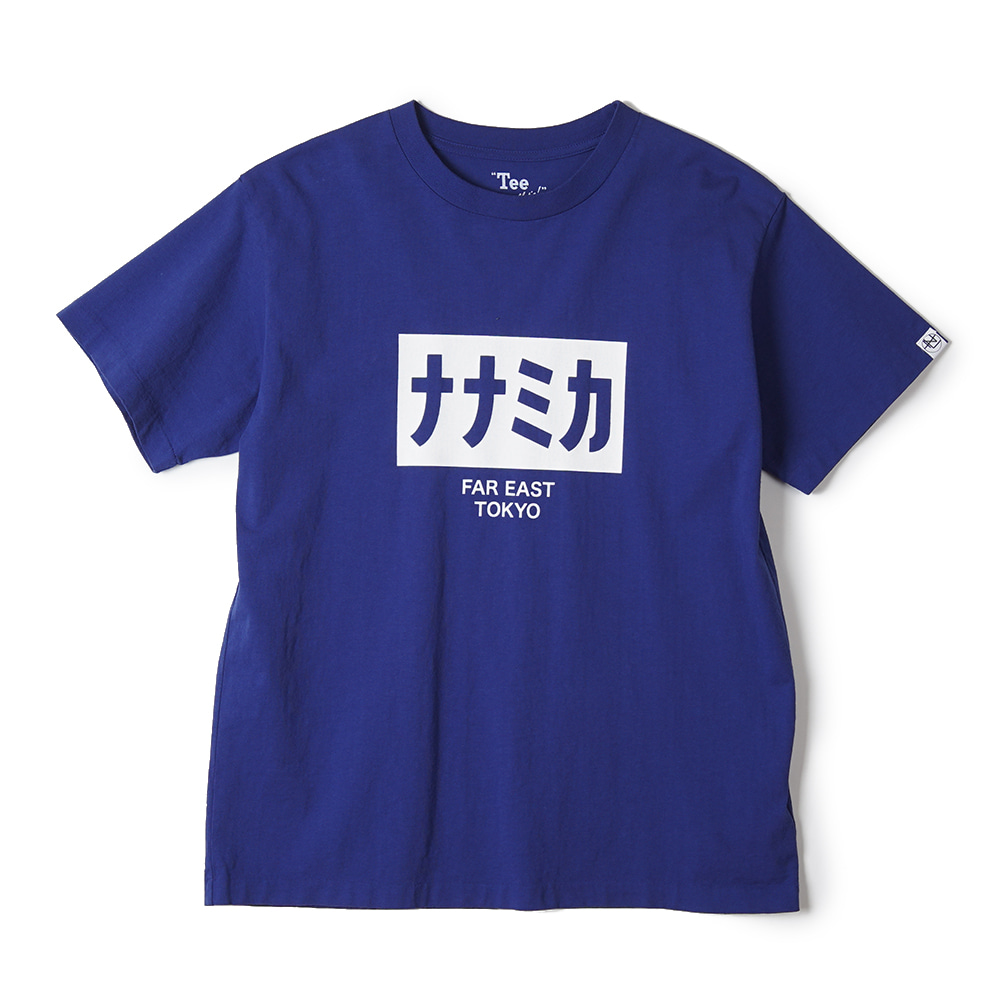 "NANAMICA nanamican H/S Graphic Tee ""Royal Blue"""