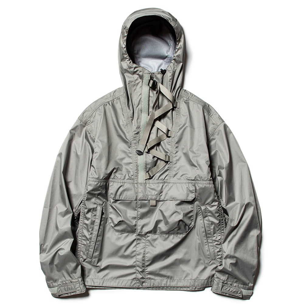 "MEANSWHILE 3 Layer Anorak OP Jacket ""Grey"""