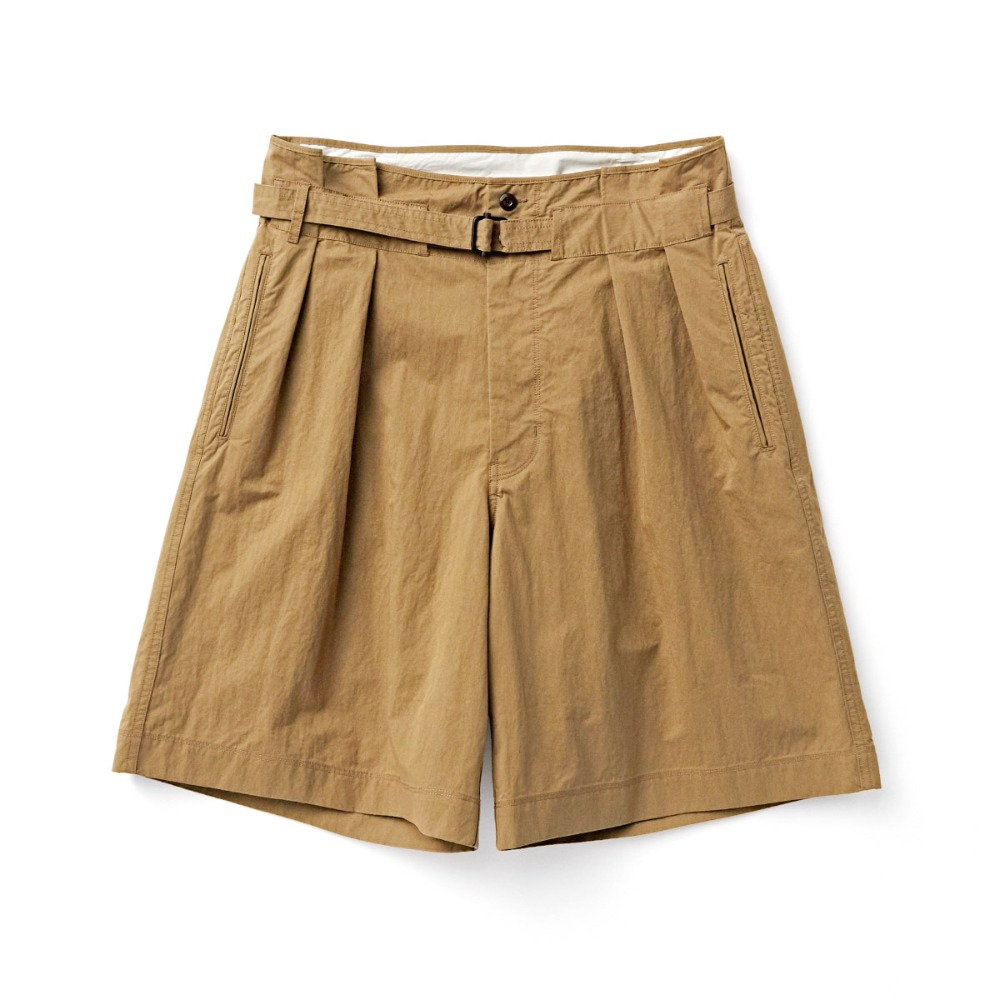 "EASTLOGUE Tropical Wide Shorts ""Beige Twill"""