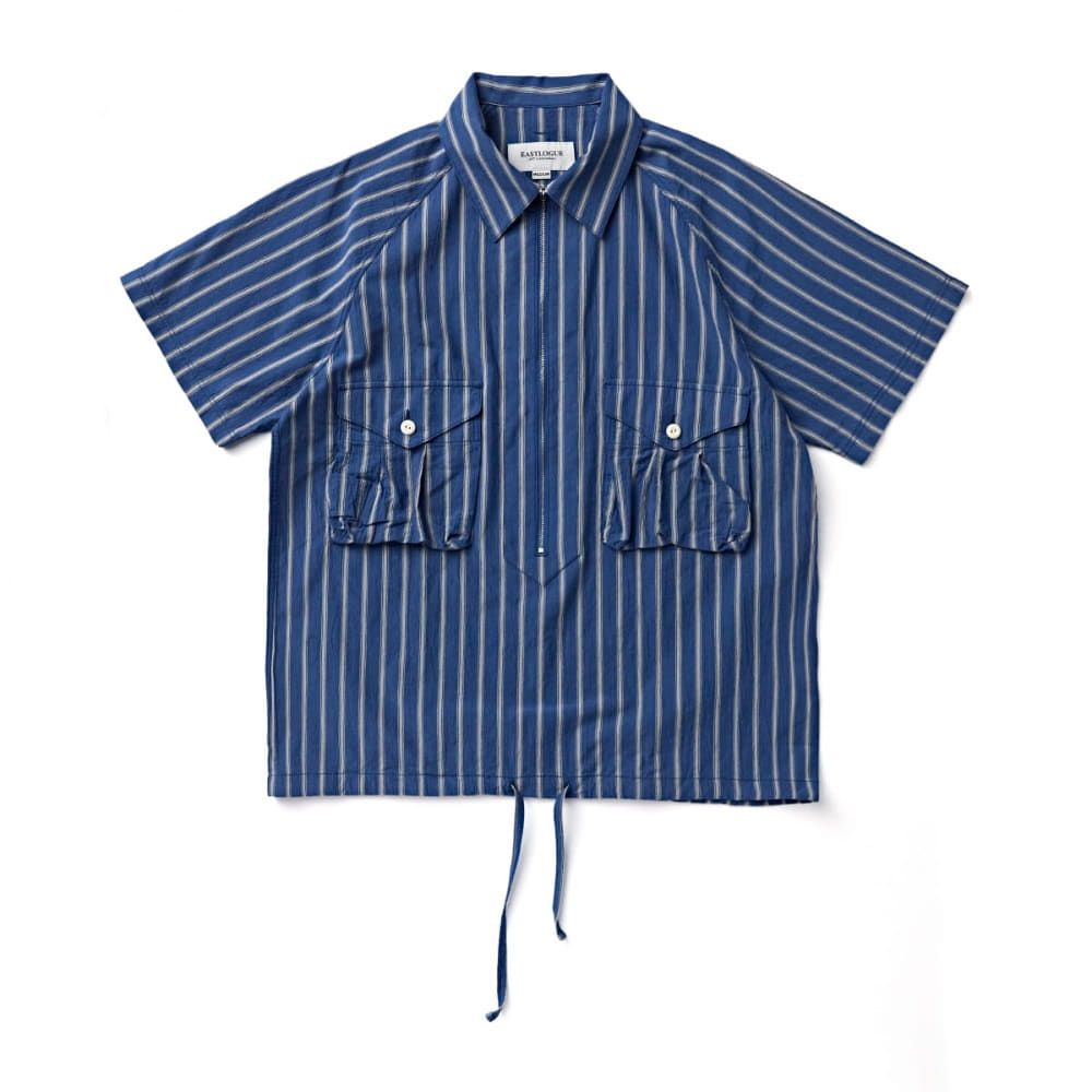 "EASTLOGUE Scout Pullover Half Shirt ""Blue & Grey Stripe"""