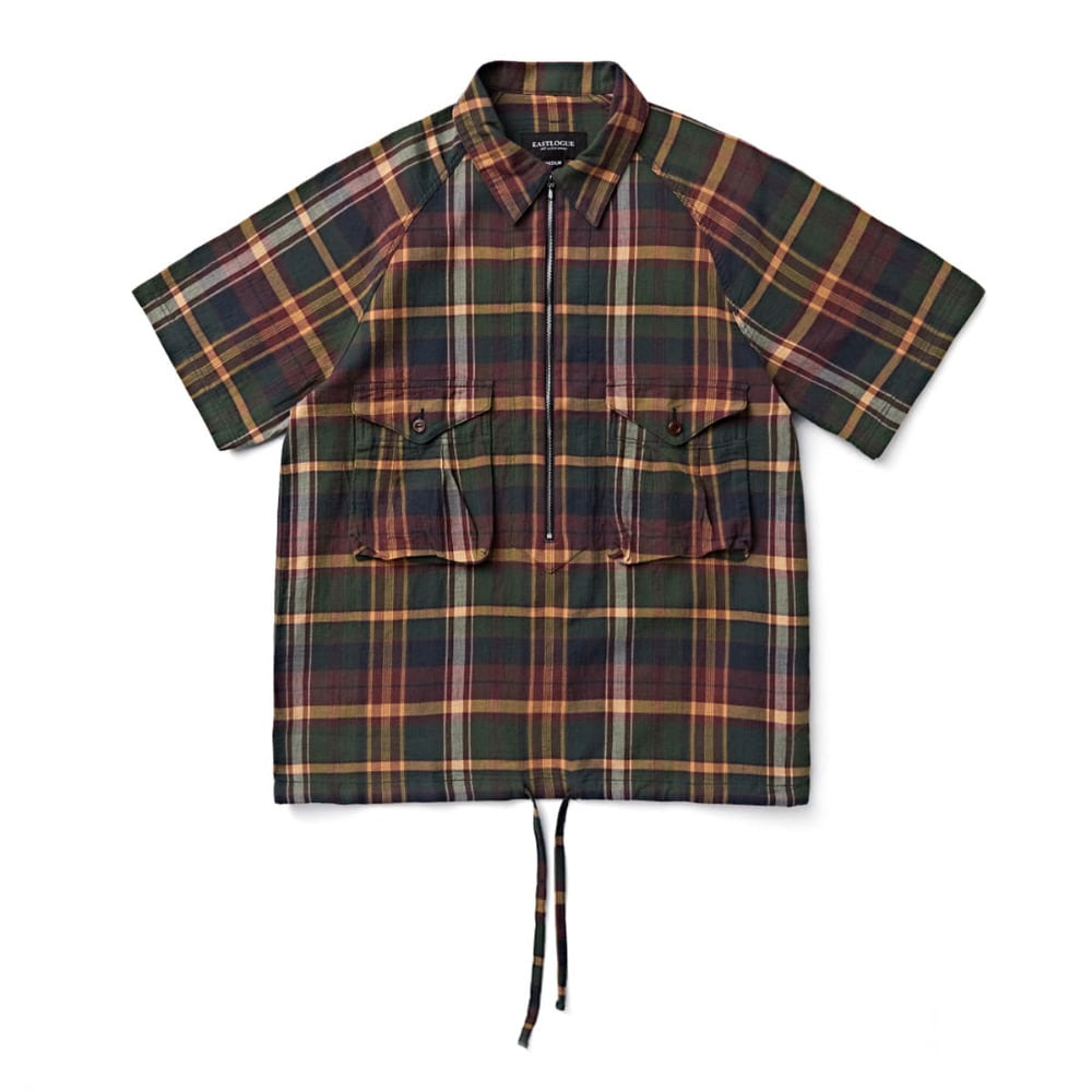 "EASTLOGUE Scout Pullover Half Shirt ""Olive Multi Check"""