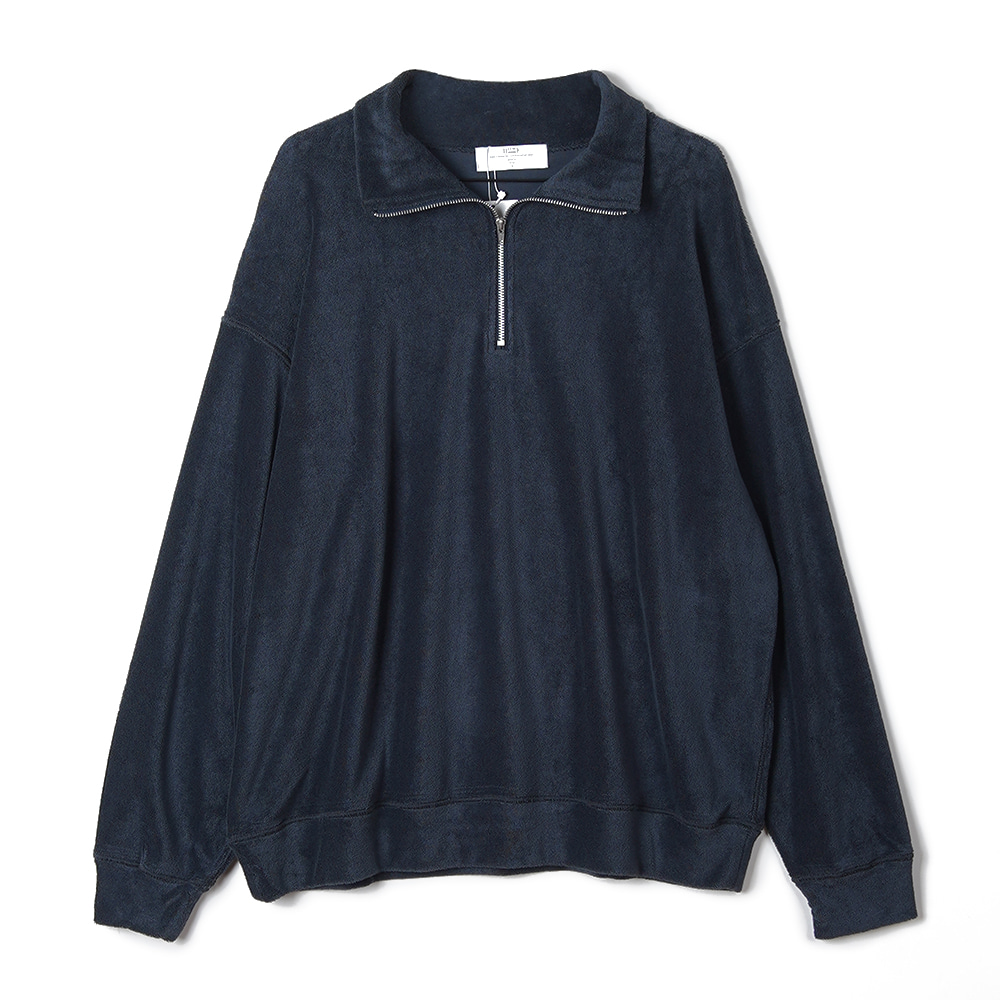 "BUNT Pile Zip Up Shirts ""Navy"""