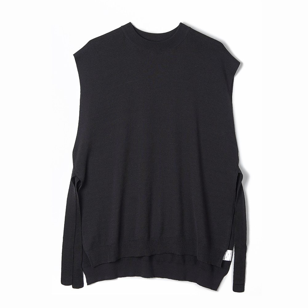 "BUNT Fine Cotton Tape Knit Vest ""Charcoal"""