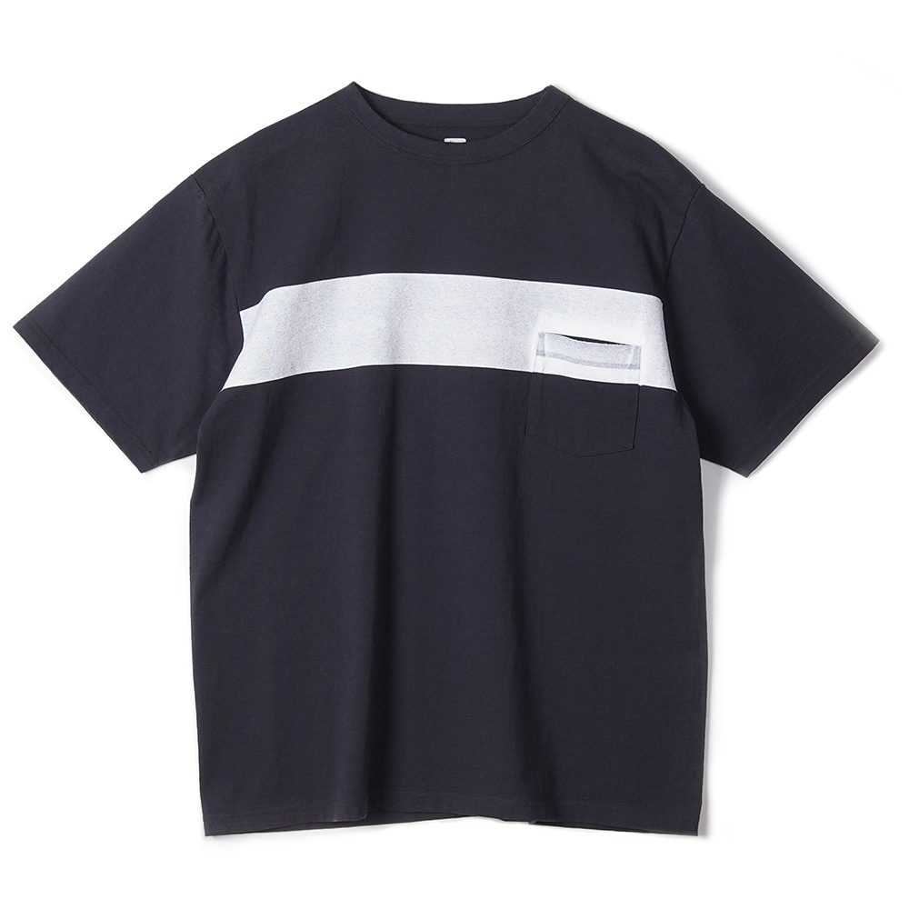 "KAPTAIN SUNSHINE West Coast Tee ""Dark Navy x White Line"""