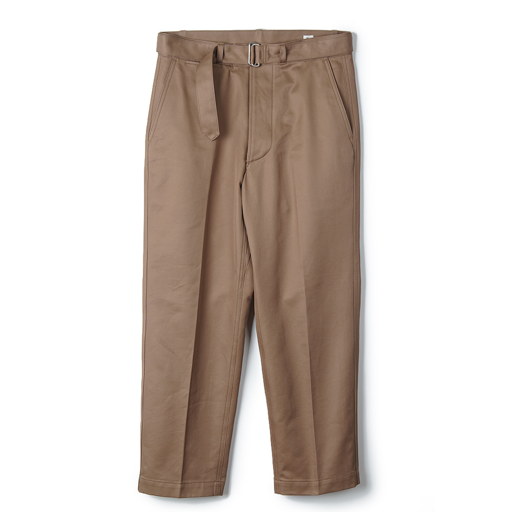 "KAPTAIN SUNSHINE Belted Work Trousers ""Khaki"""