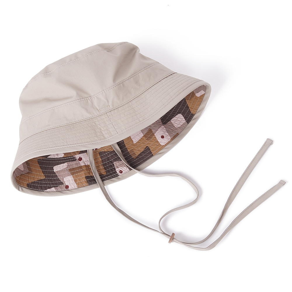 "KAPTAIN SUNSHINE Reversivle Bush Hat ""Tan x Tribal Stripe"""