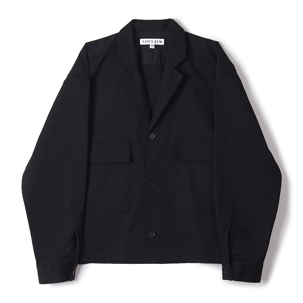 "NOCLAIM Heavenly cotton Notched Lapel Shirt Jacket ""Black"""
