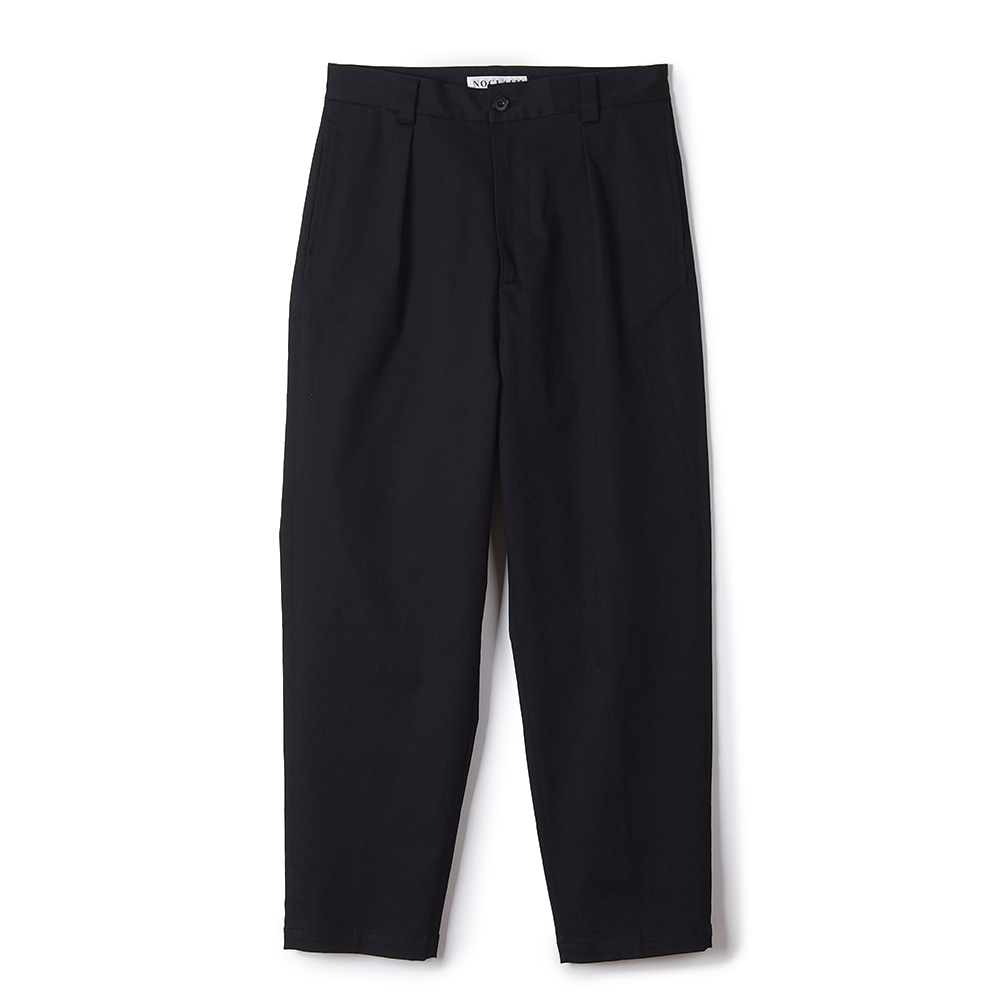 "NOCLAIM Heavenly cotton Baggy Tapered Pants ""Black"""