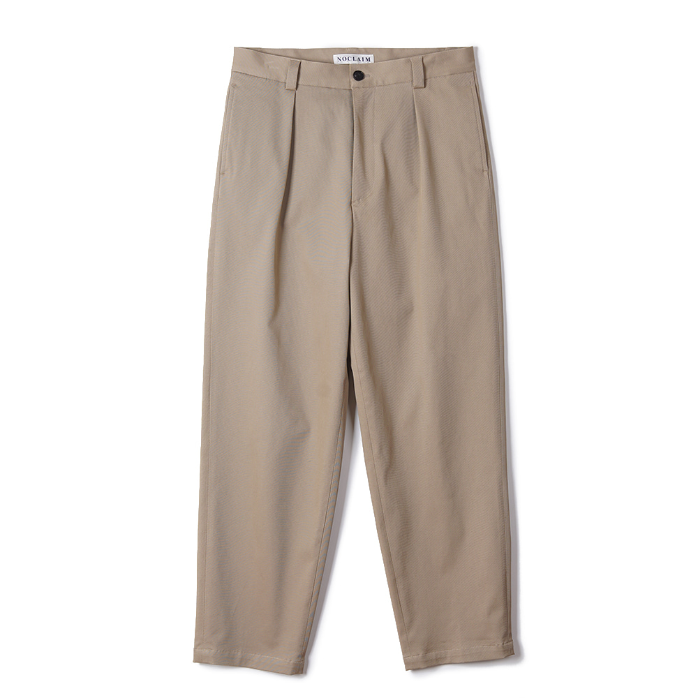 "NOCLAIM Heavenly cotton Baggy Tapered Pants ""Khaki"""
