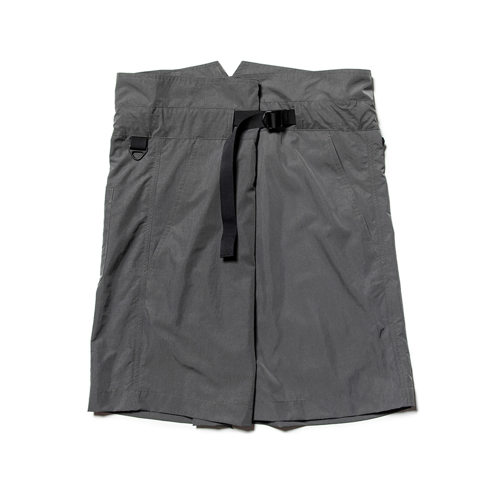 "MEANSWHILE Nylon Wrap Board Shorts ""Charcoal"""