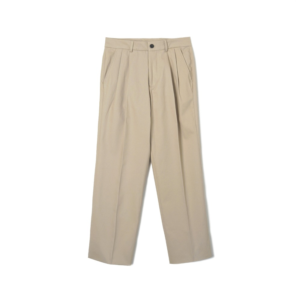 "BANTS WSK Cotton Twill Chino Two-tuck Pants ""Beige"""