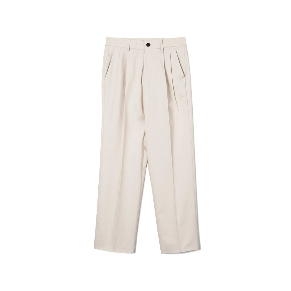"BANTS WSK Cotton Twill Chino Two-tuck Pants ""Ivory"""