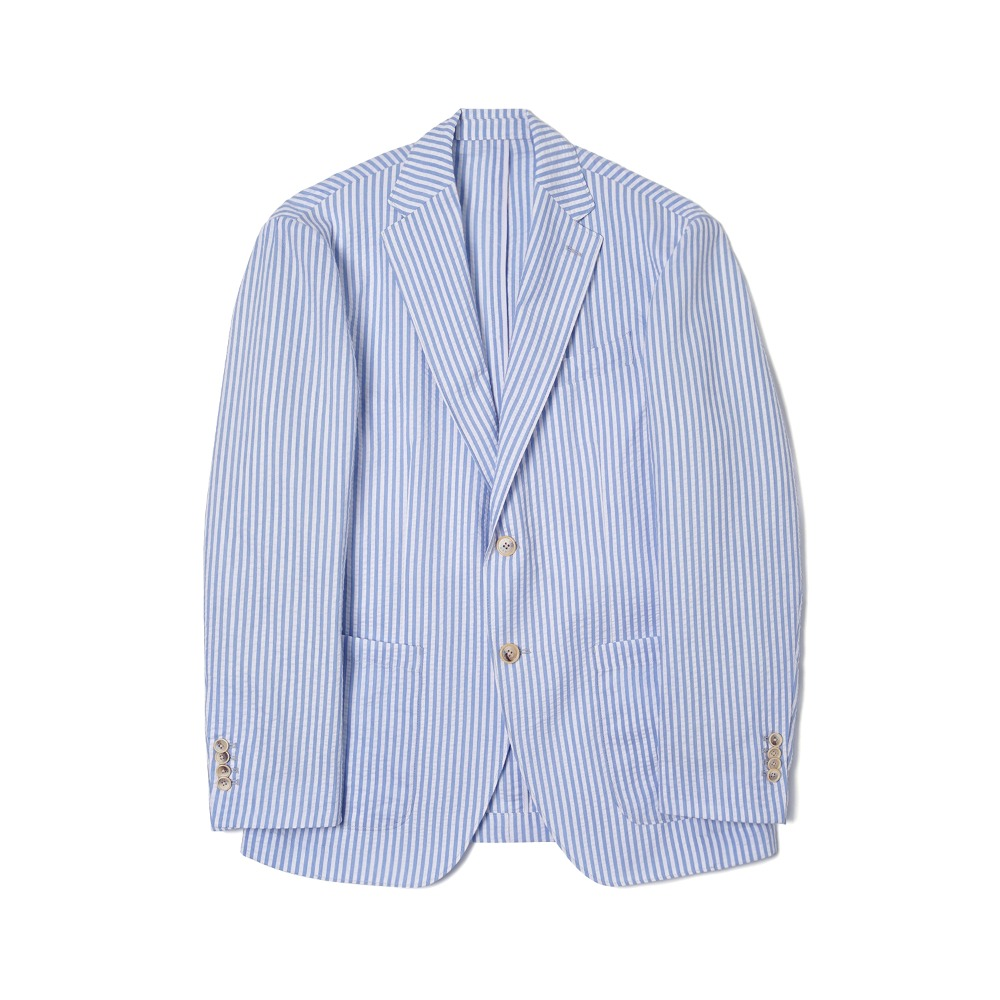 "BANTS WSK Stripe Seersucker 2B Single Jacket  ""Skyblue"""