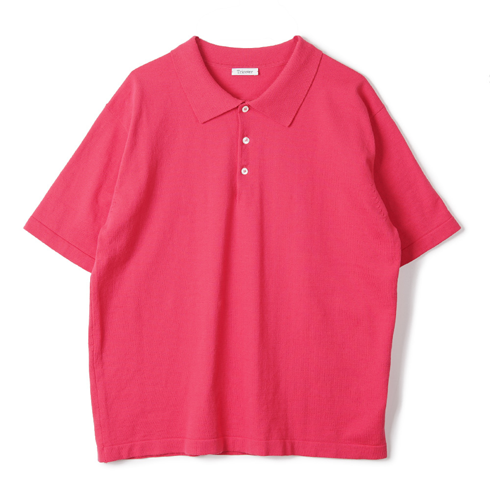 "TRICOTER High Twist Cotton Polo Kint ""Fuchsia Pink"""