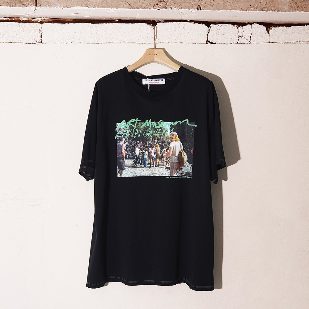"THE MUSEUM VISITOR 19 S/S Berlin T-Shirts ""Black"""