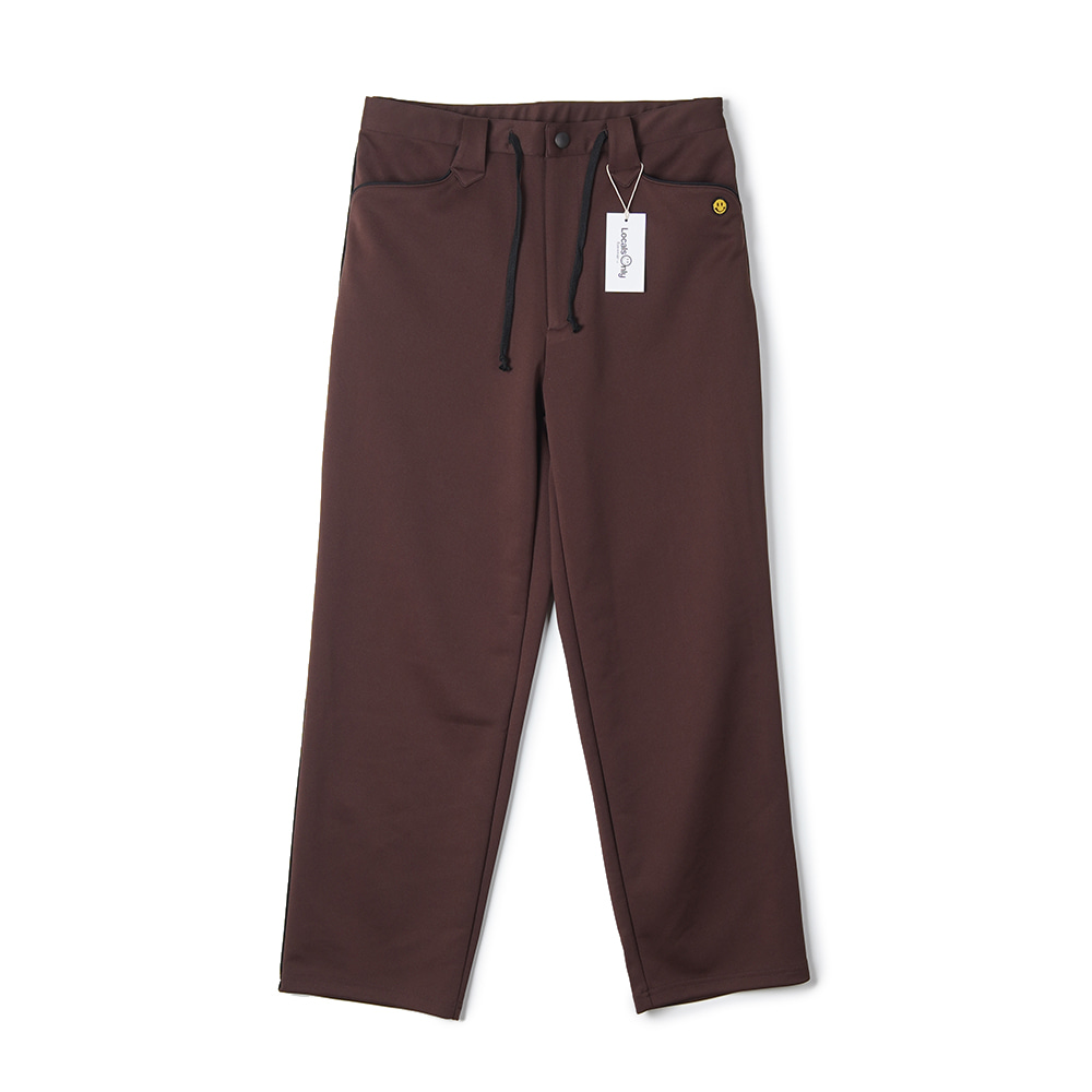 "LOCALS ONLY New Generation Western Track Pants ""Brown/Black"""