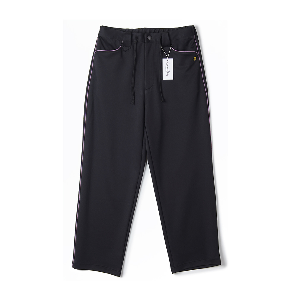 "LOCALS ONLY New Generation Western Track Pants ""Black/Purple"""