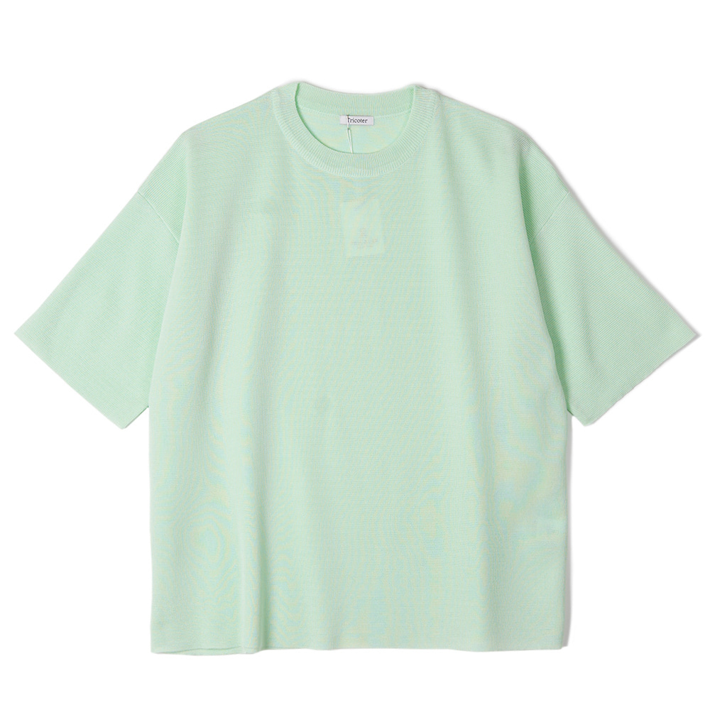 "TRICOTER Summer Yarn Double Face knit ""Mint Green"""