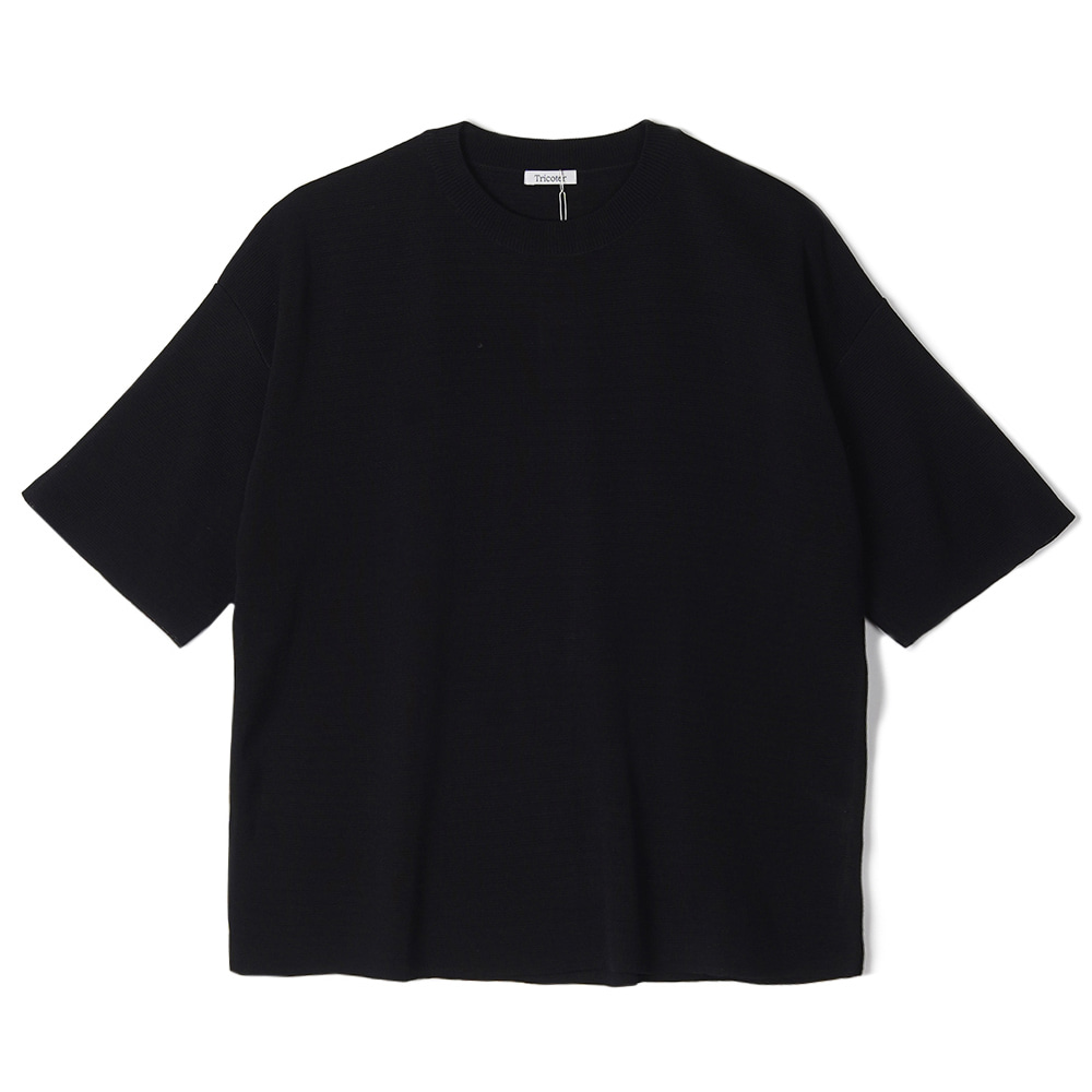 "TRICOTER Summer Yarn Double Face knit ""Black"""