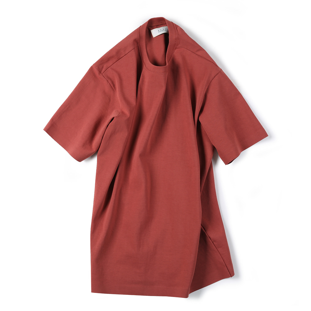 "SHIRTER 02 Seamless Hem T-Shirt ""Brick"""