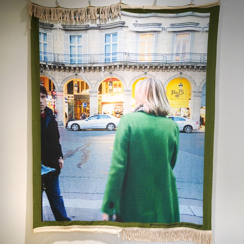 "THE MUSEUM VISITOR Blanket For Home 02 ""Green"""
