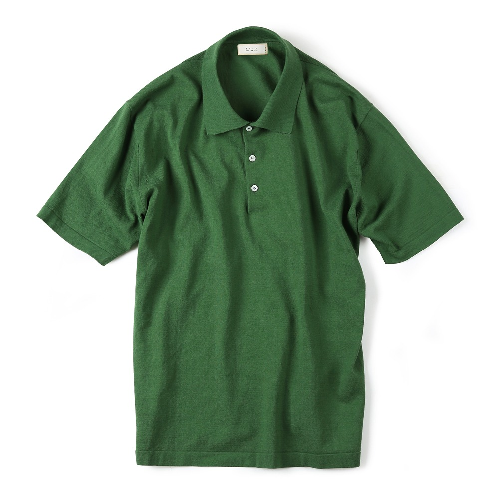 "SHIRTER x TRICOTER High Twist Cotton Polo Knit ""Green"""