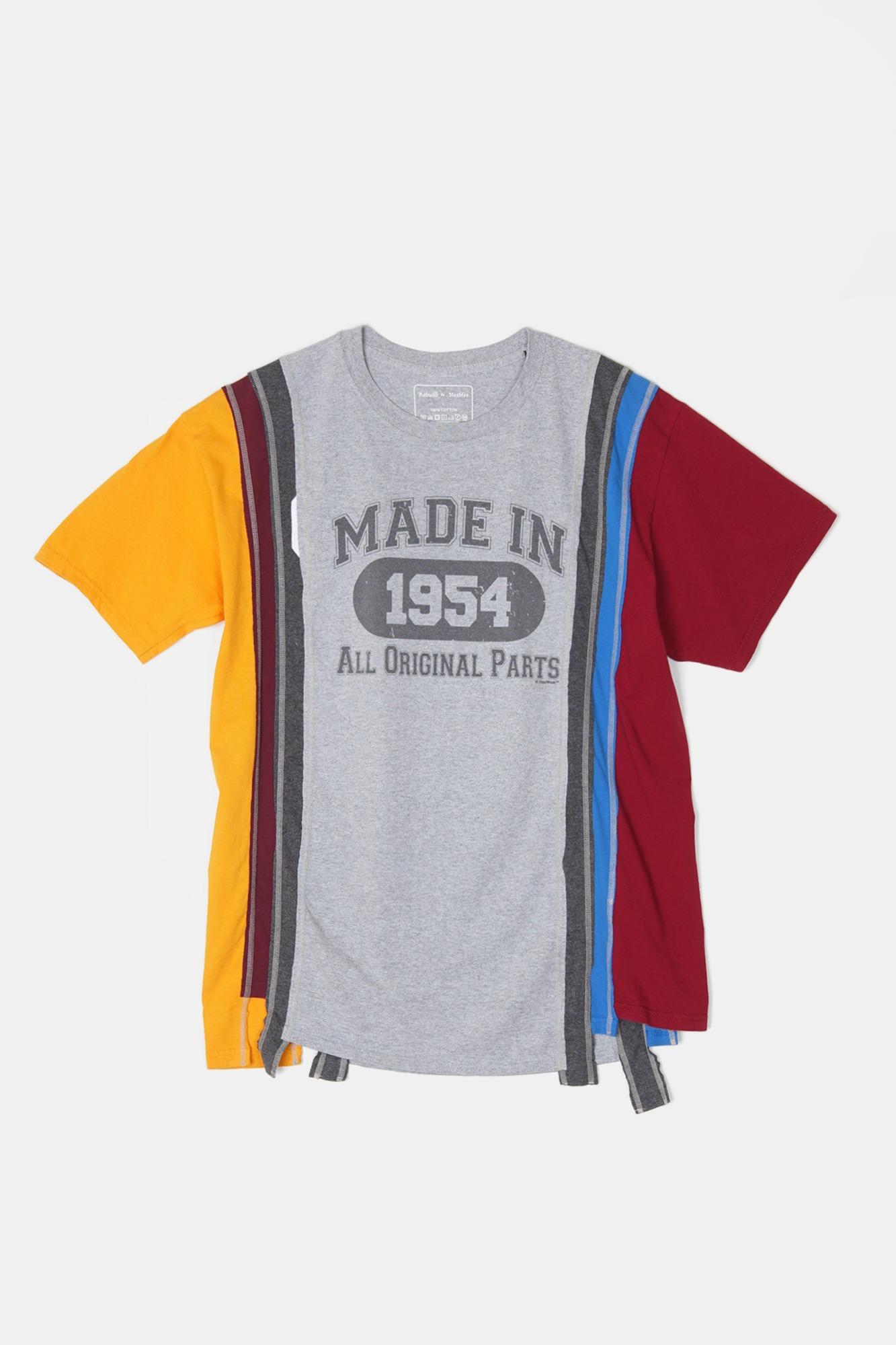 REBUILD BY NEEDLES 7 Cuts S/S College Tee 1